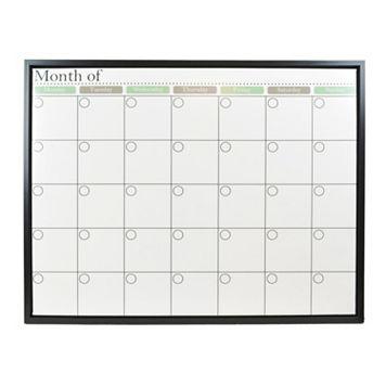 Belle Maison Monthly Calendar Dry Erase Board