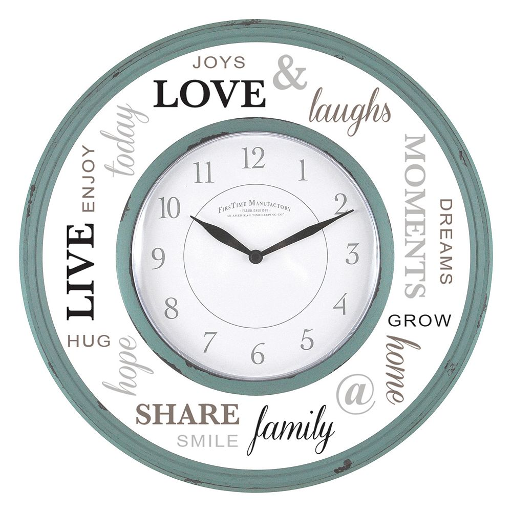 Clocks wall decor home decor kohls first time family wall clock amipublicfo Images