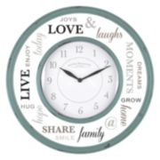 First Time Family Wall Clock