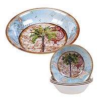 Certified International Aqua Palms 5-pc. Salad Serving Set