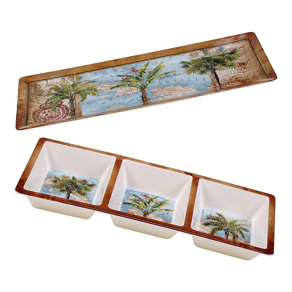 Certified International Aqua Palms 2-pc. Appetizer Set