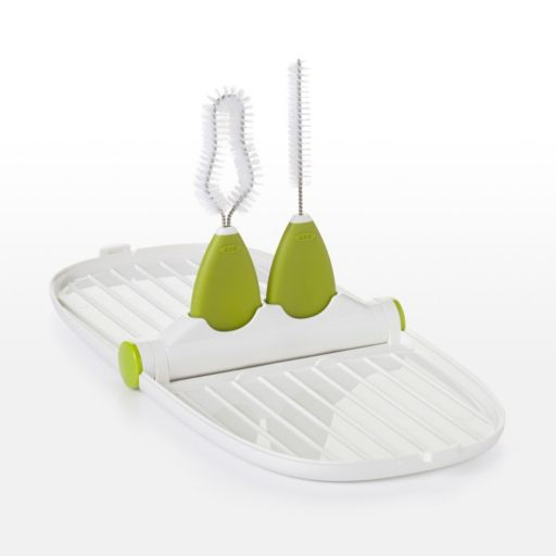 OXO Tot Breast Pump Parts Drying Rack with Detail Brushes