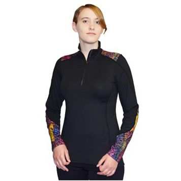 Women's Snow Angel Black Flash Quarter Zip Top