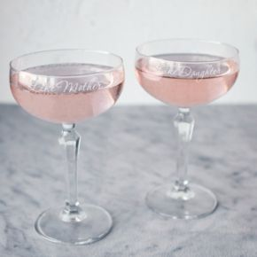 Cathy's Concepts 2-pc. Like Mother, Like Daughter Champagne Coupe Glass Set