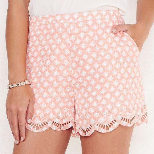 Women's LC Lauren Conrad Scalloped Soft Shorts