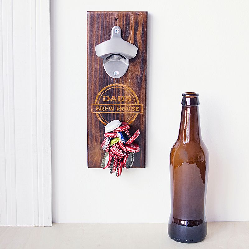 Cathy's Concepts Dad's Rustic Wall-Mount Bottle Opener, Brown
