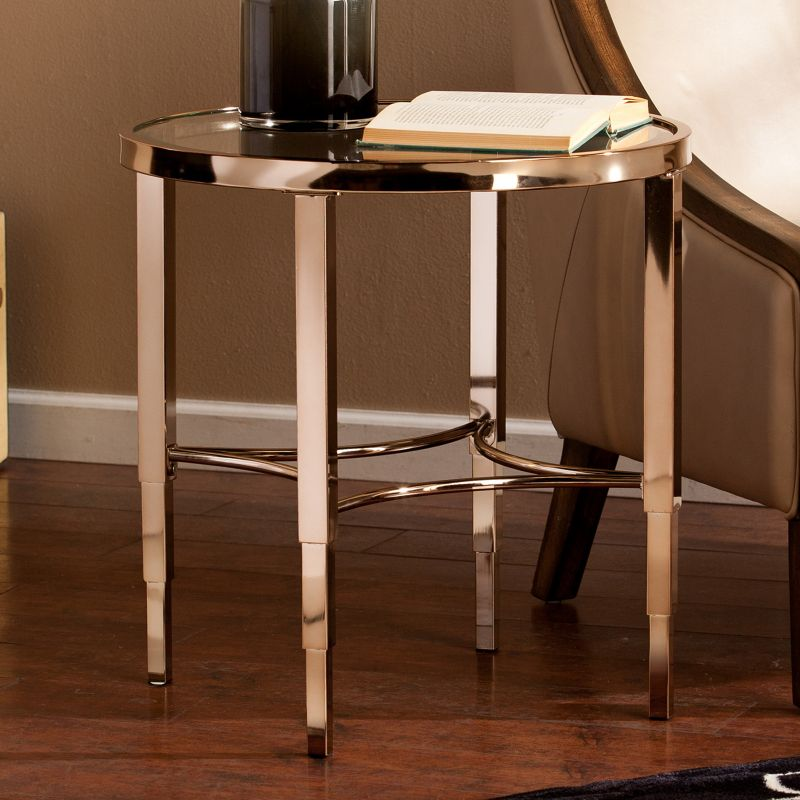 Tanner End Table, Gold