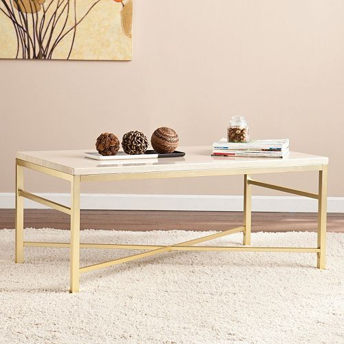Faux Stone Coffee Table: Savill Faux Stone Coffee Table