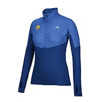 Women's adidas Golden State Warriors Team Logo 1/2-Zip Pullover