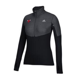 Women's adidas Chicago Bulls Team Logo 1/2-Zip Pullover