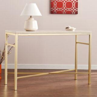 Savill Faux Stone Sofa Table