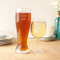 Cathy's Concepts 2 pc Parent Measuring XL Beer & Wine Glass Set