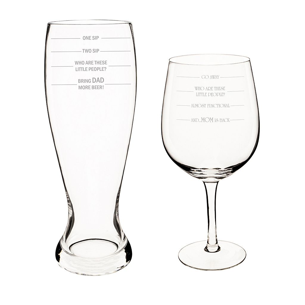 Cathy's Concepts 2-pc. Parent Measuring XL Beer & Wine Glass Set