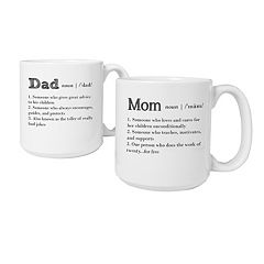 Cathy's Concepts 2-pc. Parent Definition Coffee Mug Set