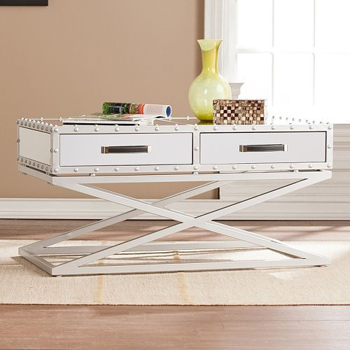 Stockard Industrial Mirrored Coffee Table