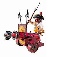 Playmobil Pirates Red Interactive Cannon With Buccaneer - 6063