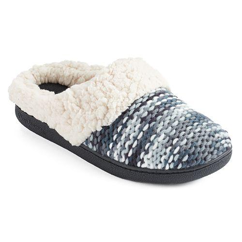 Dearfoams Women's Sweater Knit Clog Slippers