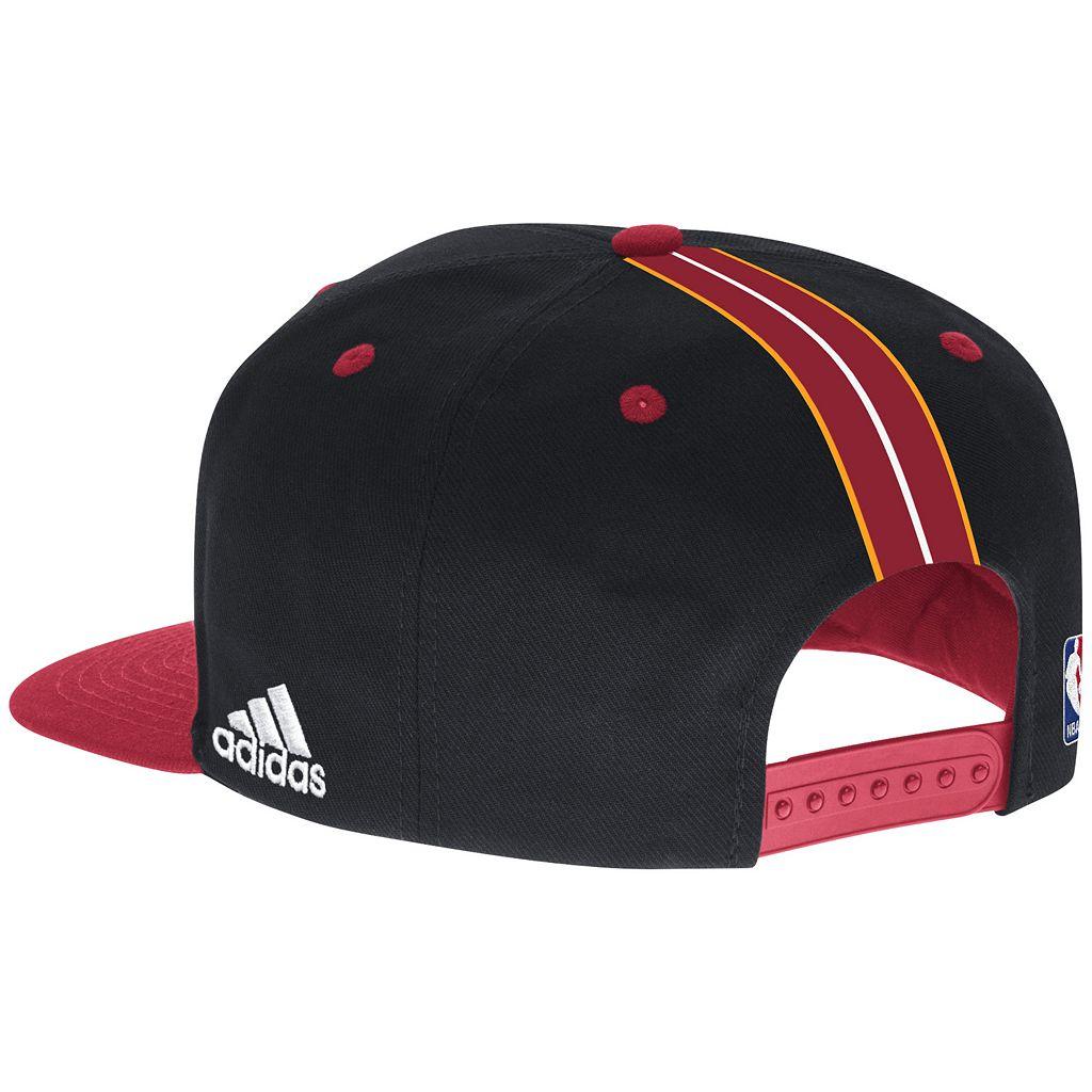 Men's adidas Miami Heat Draft Snapback Cap