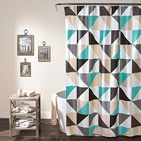 Lush Decor Abner Geo Shower Curtain