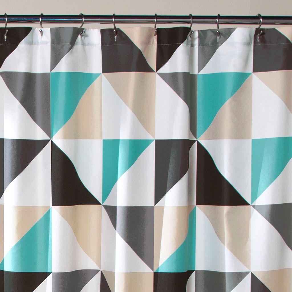 Lush Decor Abner Geo Shower Curtain