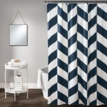 Lush Decor Jigsaw Chevron Shower Curtain