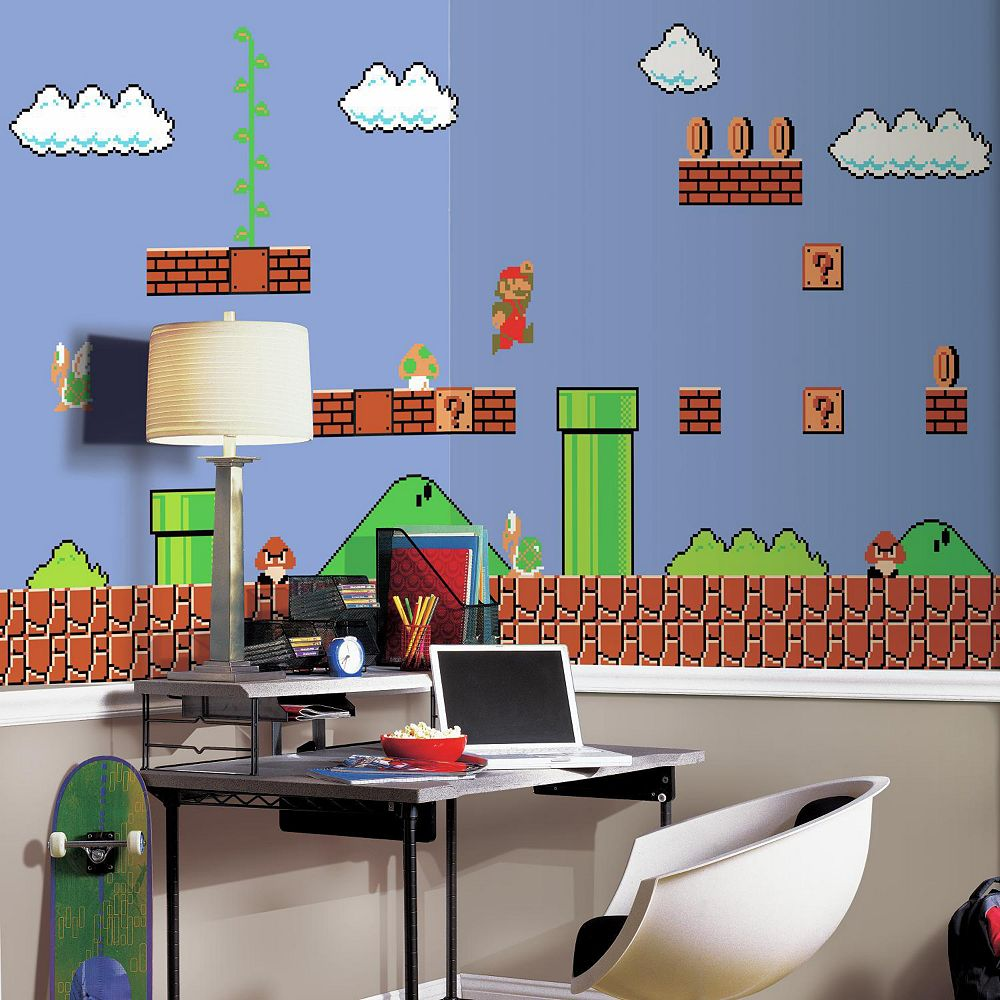 Mario wall stickers looking for swivel armchairs for living room nintendo super mario retro wall mural 2553506wid1000hei1000op sharpen1 roommates nintendo super mario retro wall muraljsp mario wall stickers looking amipublicfo Gallery