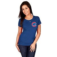 Women's Majestic Chicago Cubs Official Logo Tee