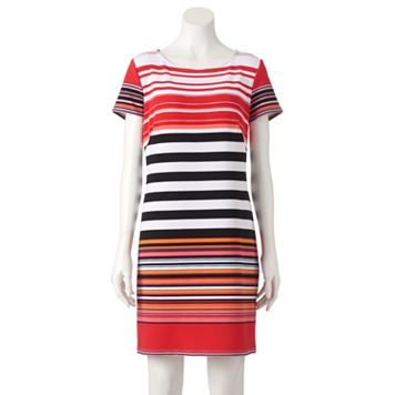 Women's Perceptions Striped Shift Dress