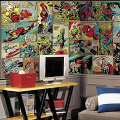 RoomMates Marvel Comic Panel Wall Mural