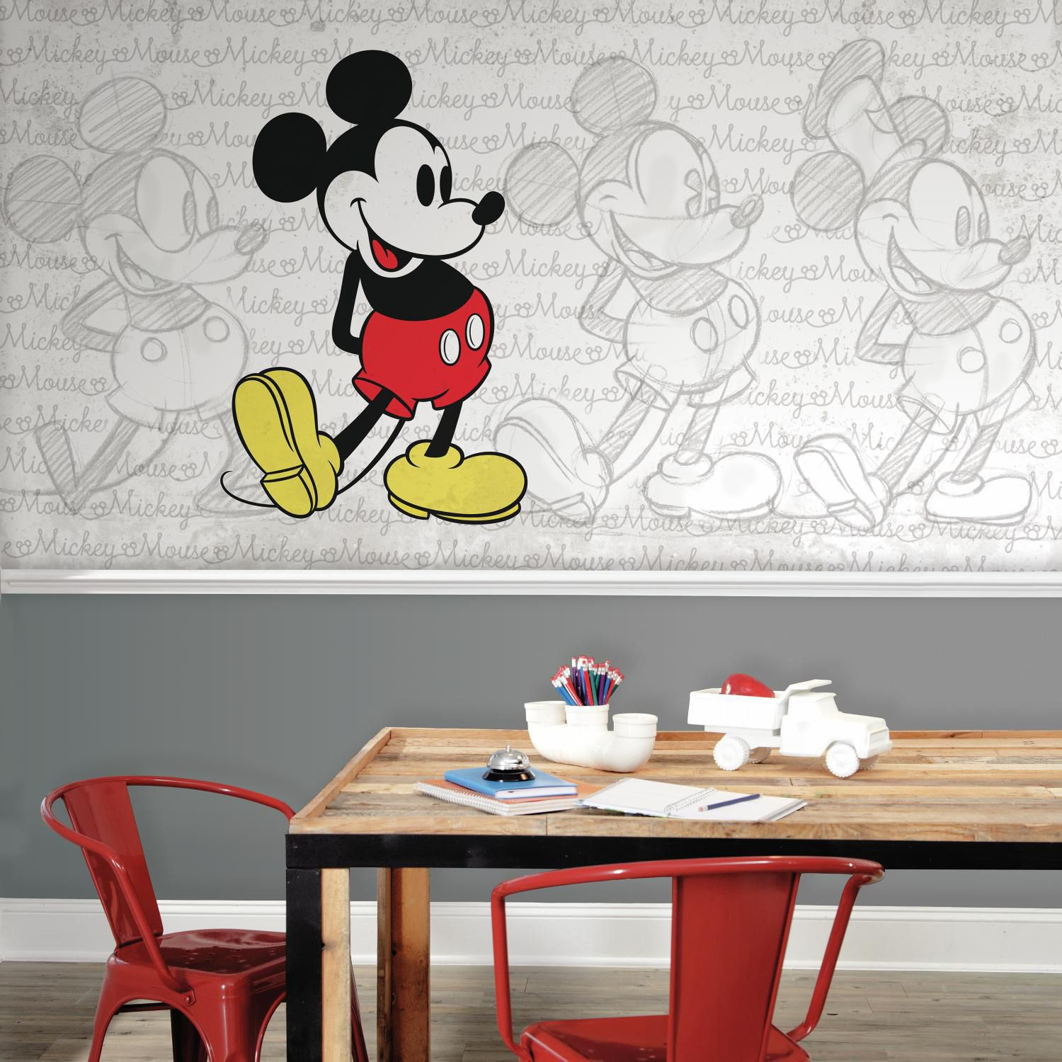 High Quality Disney Mickey Mouse Wall Mural By RoomMates Photo Gallery