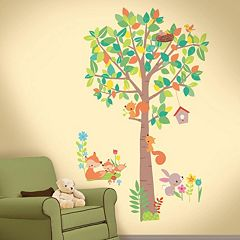 RoomMates Woodland Creatures Peel and Stick Wall Decals