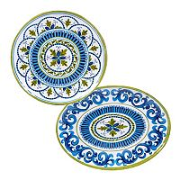 Certified International Blue Grotto 2-pc. Platter Set
