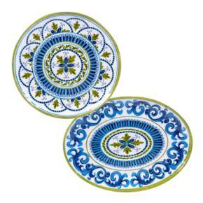Certified International Blue Grotto 2-pc. Platter Set