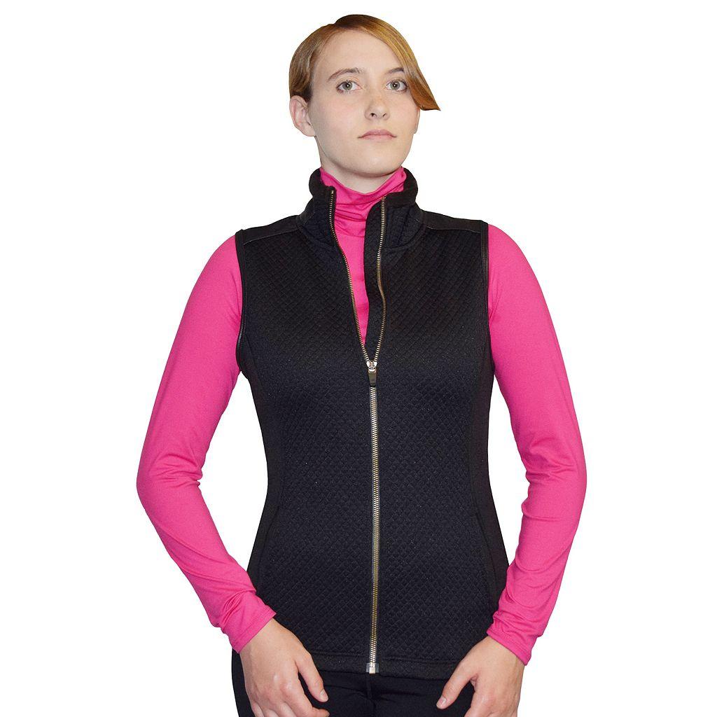 Women's Snow Angel Minx Mountain Quilted Zip Up Vest