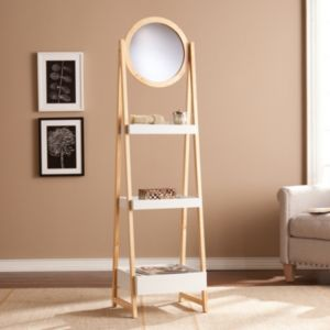 Lawton Mirrored Storage Shelf