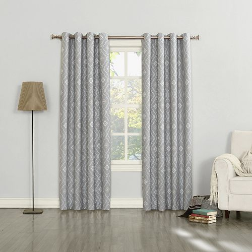 Sun Zero 1-Panel Sylvie Thermal Lined Window Curtain