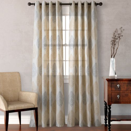 Heritage Landing 2-pack Medallion Scrolls Curtains