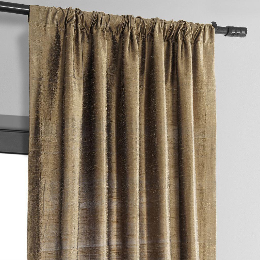 EFF Textured Dupioni Silk Window Curtain