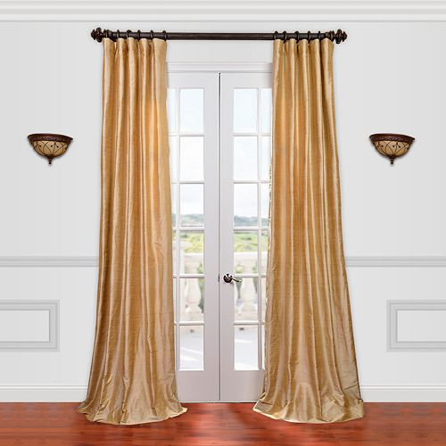 EFF Textured Dupioni Silk Window Curtain