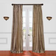 EFF 1-Panel Textured Dupioni Silk Window Curtain