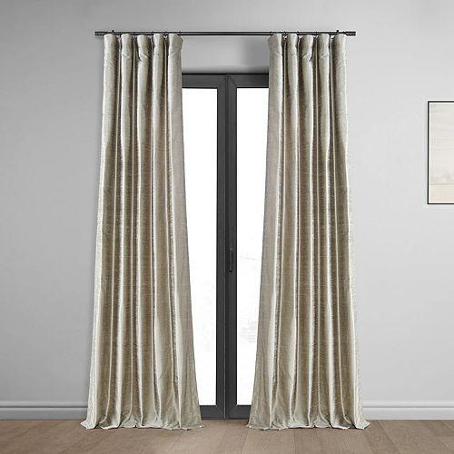 EFF 1-Panel Textured Dupioni Silk Window Curtain