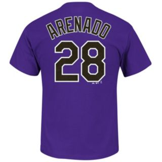 Men's Majestic Colorado Rockies Nolan Arenado Player Player Name and Number Tee