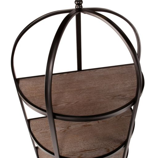 Vivian 3-Tier Rotunda Display Bookshelf