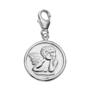 personal charm Sterling Silver Angel Disc Charm