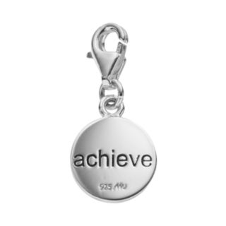 """personal charm Sterling Silver """"Achieve"""" 13.1 Charm"""