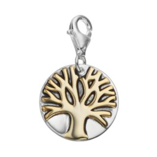 personal charm 18k Gold Over Silver & Sterling Silver Tree of Life Charm