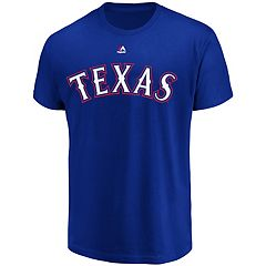 Men's Majestic Texas Rangers Wordmark Tee