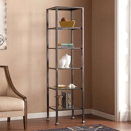 Glass Metal Display Tower