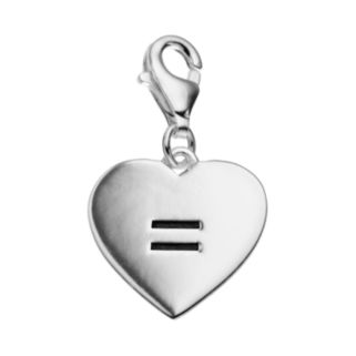 personal charm Sterling Silver Equal Heart Charm