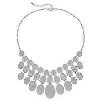 Apt. 9® Glitter Oval Statement Necklace